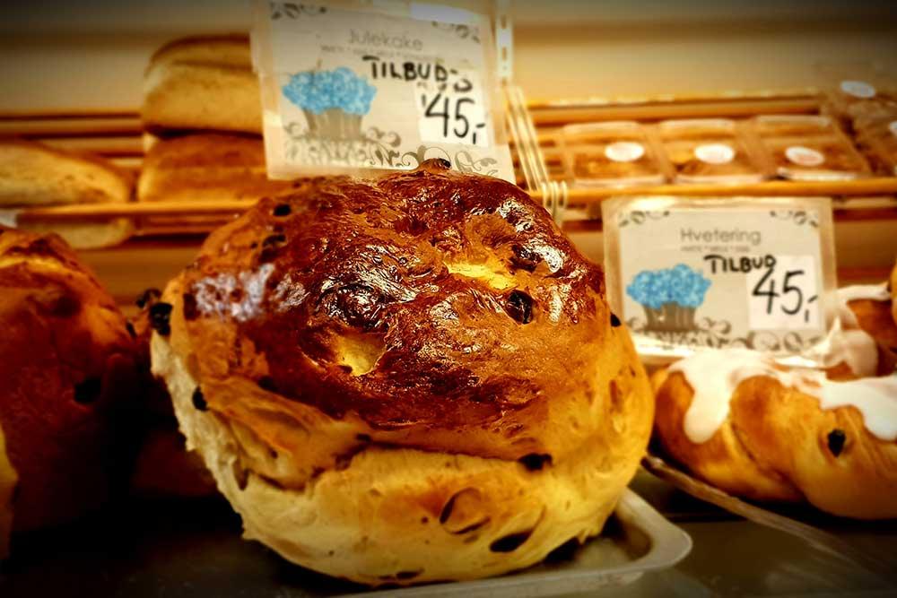 Foto av bakverk fra Evensens bakeri i Askim