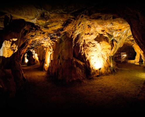 Foto av gruvegangene i Romsåsen nikkelgruve