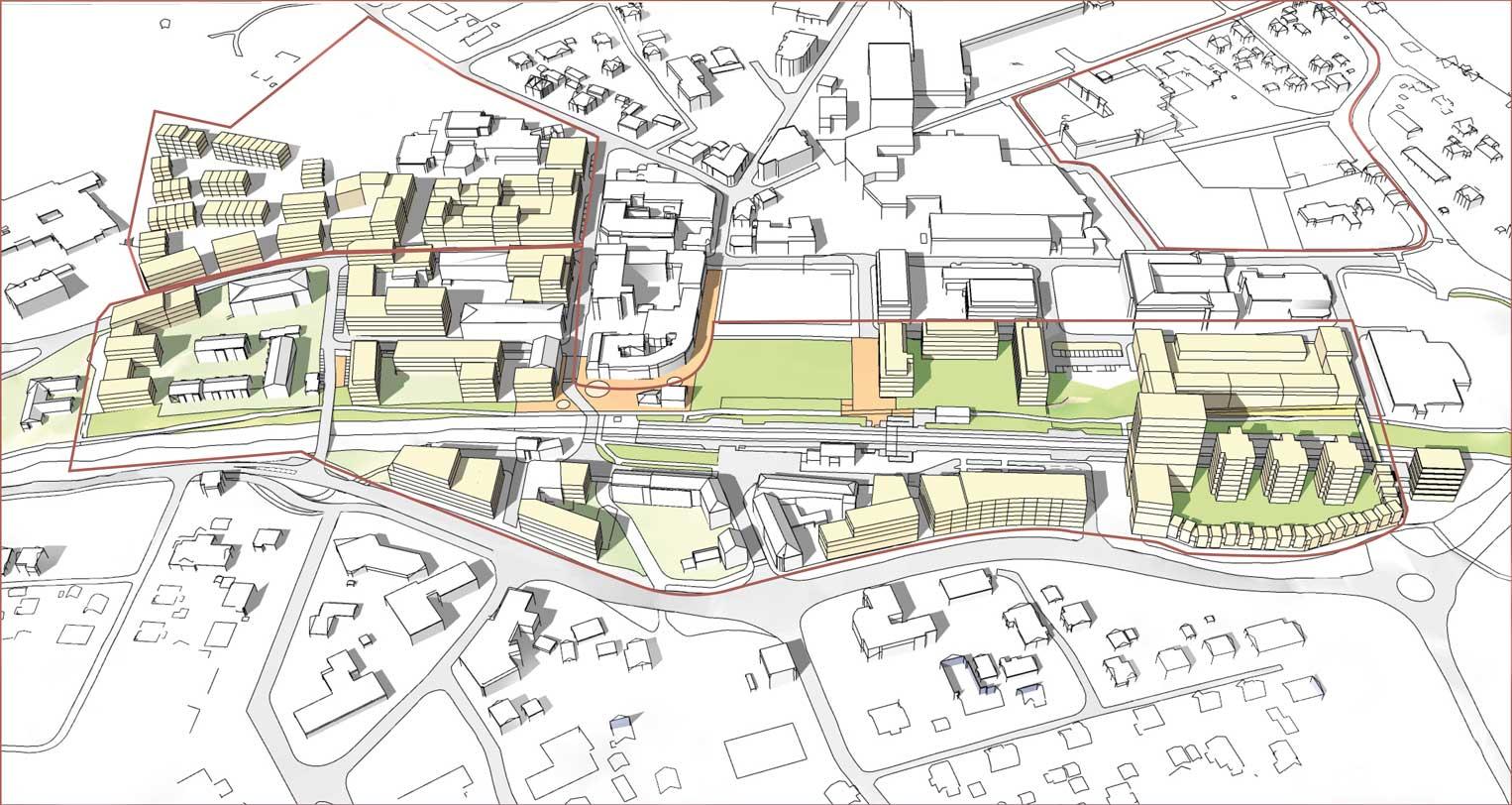Illustrasjon av arealplan i Askim