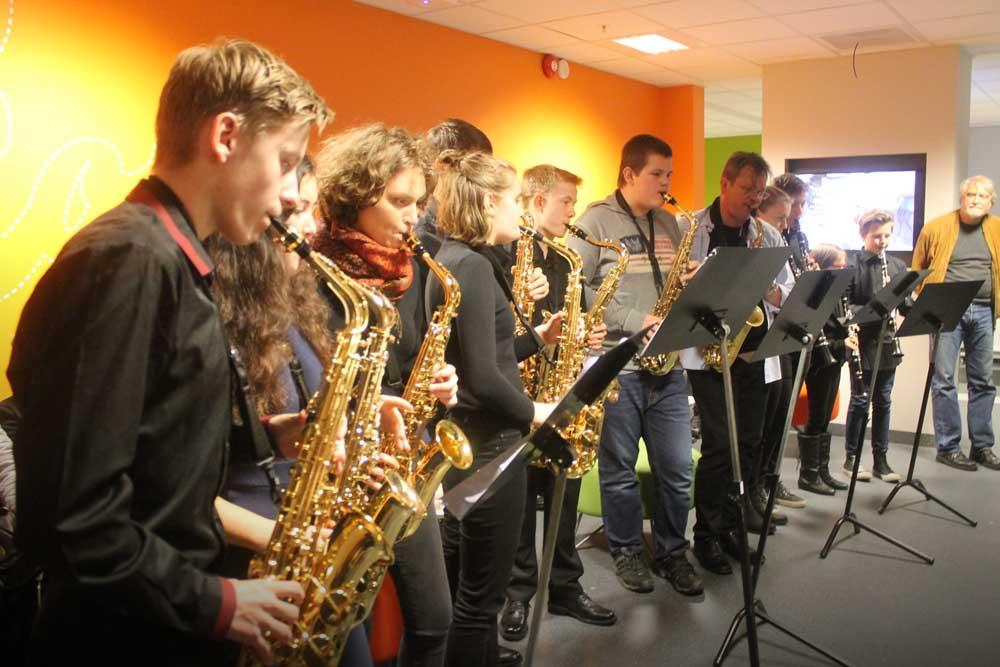 Foto av saksofonister fra Askim kulturskole
