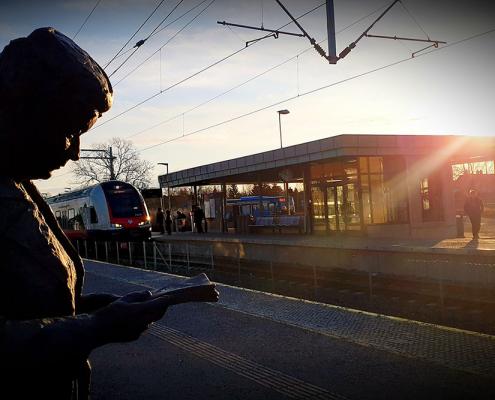 Foto av Askim stasjon