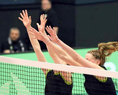 Foto av volleyballspill